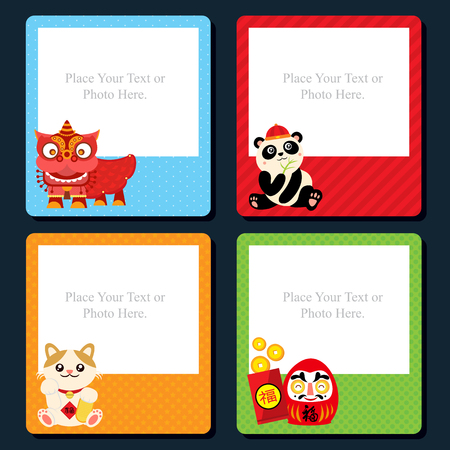 chinese new year dragon: chinese new year template card