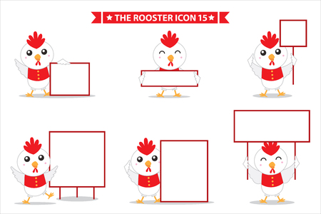 messege: rooster icon character