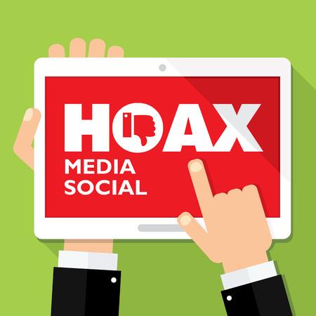 scammer: hoax media social