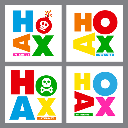 scammer: Hoax font sets template.