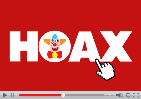 Hoax display player Illustration