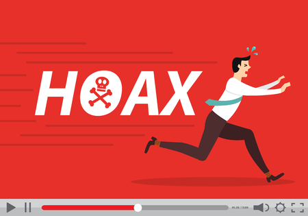 fake newspaper: Hoax video Illustration