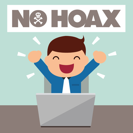 hoax: Man excited about no hoax