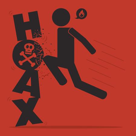 hoax icon Stock Vector - 73447436