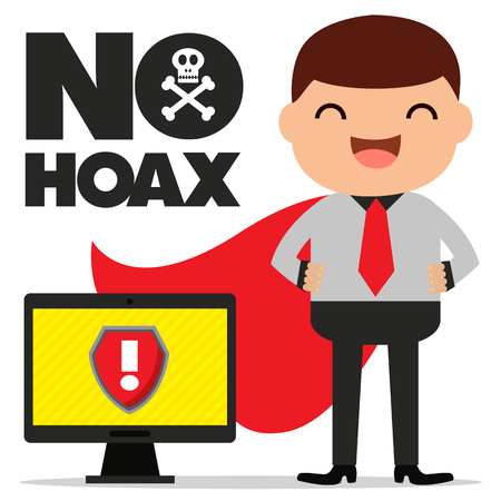 no hoax icon Illustration