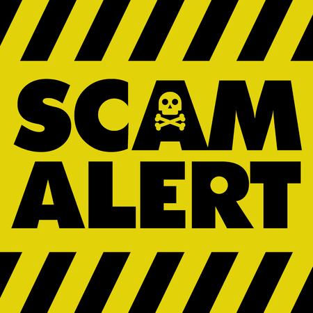 Alerte arnaque Banque d'images - 73966584