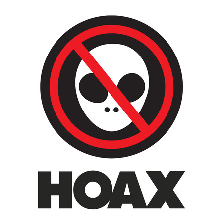 hoax illustration on a white background Illustration