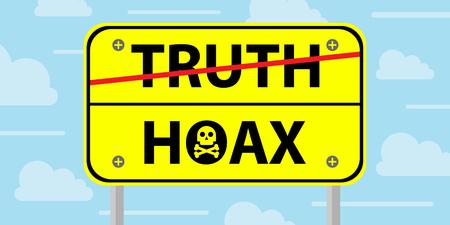 hoax: hoax sign