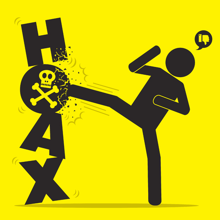 Fight hoax icon.