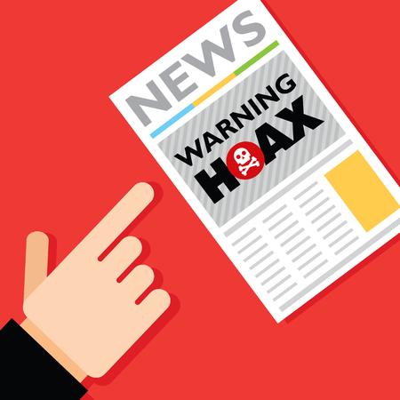 hoax: Hoax news.
