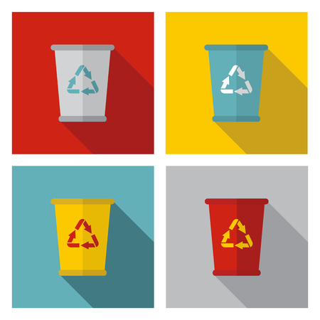 collect: trash can sign Illustration
