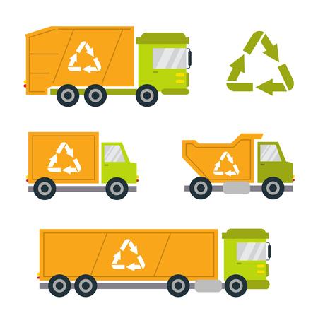 dirty car: Dump truck icon.