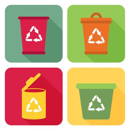 utilize: Trash can sign. Illustration