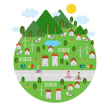 fresh air earth illustration