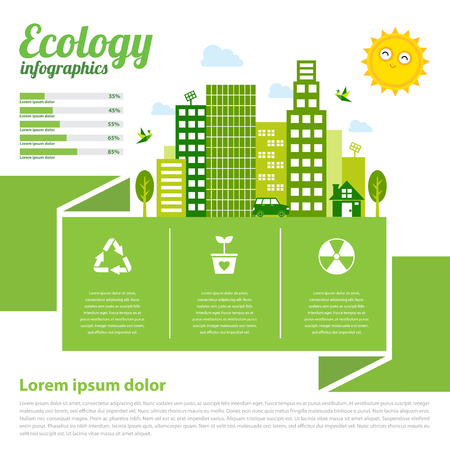 Ecologie infographique Banque d'images - 76858204