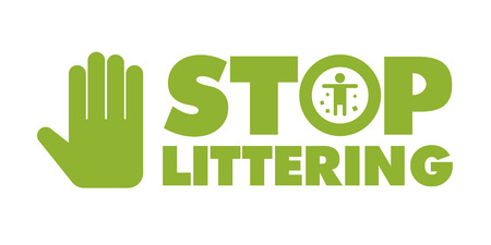 stop littering sign