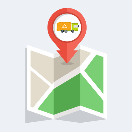 dump truck pin for map icon