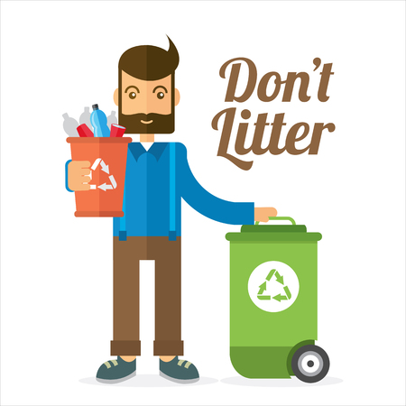 Don't litter illustration