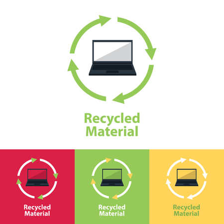 utilization: recycled material icon Illustration