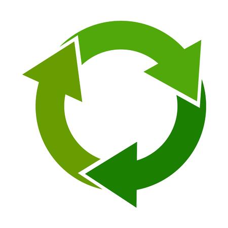 Recicle el logotipo verde Logos
