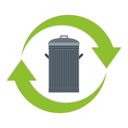 residuos organicos: Reciclar icono de la papelera