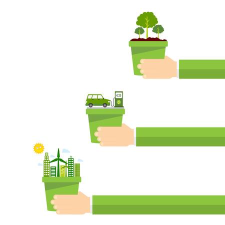 A go green illustration.