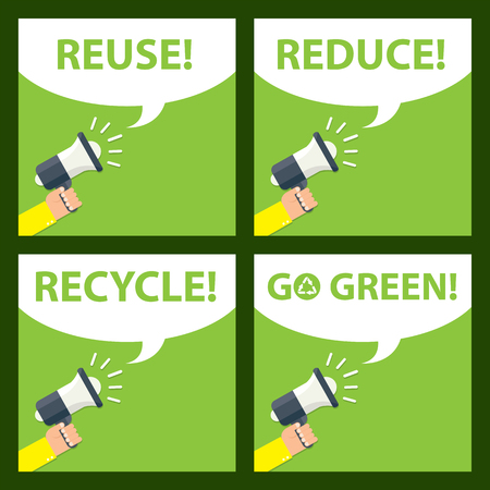 don't care: go green icon Illustration