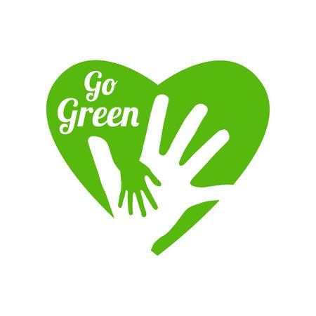 go green logo Stock Illustratie