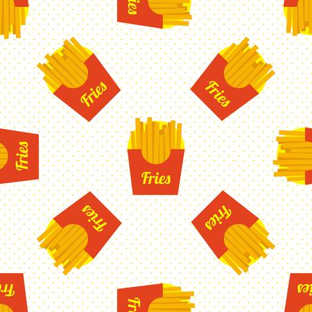 French fries seamless Çizim
