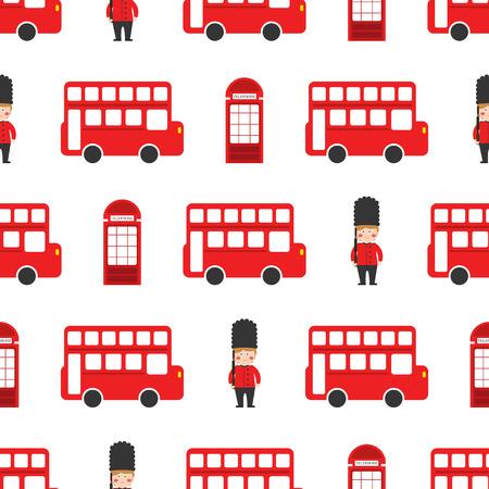 london vector pattern seamless