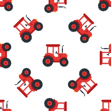 A tractor seamless illustration.