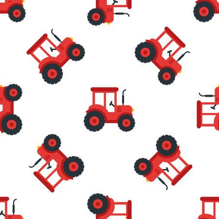 Een tractor naadloze illustratie.