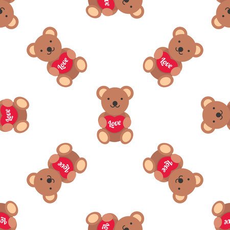 baby playing toy: bear doll seamless