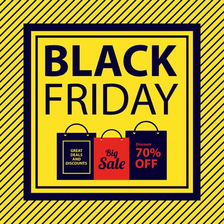 black friday sale sign Illustration