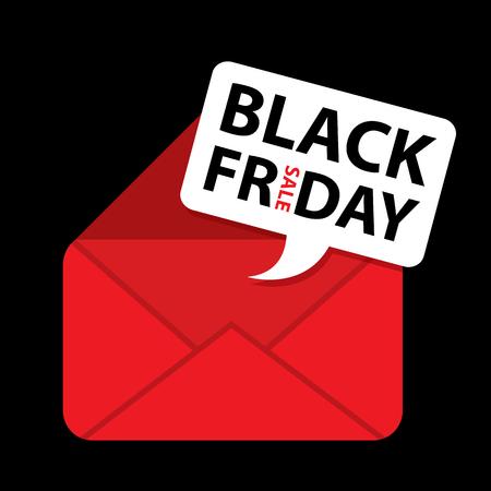 Vendredi noir icône email illustration vectorielle Banque d'images - 83670925