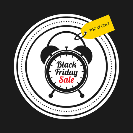 Black friday sale card.
