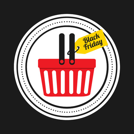 shopping chart: black friday icon