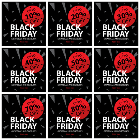 discount banner: Black friday discount sign