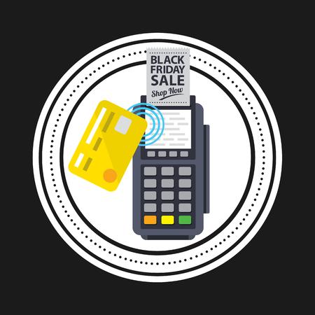 discount banner: black friday icon vector illustration Illustration