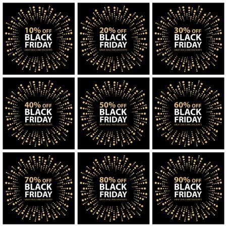 grand sale sticker: Black friday discount tag