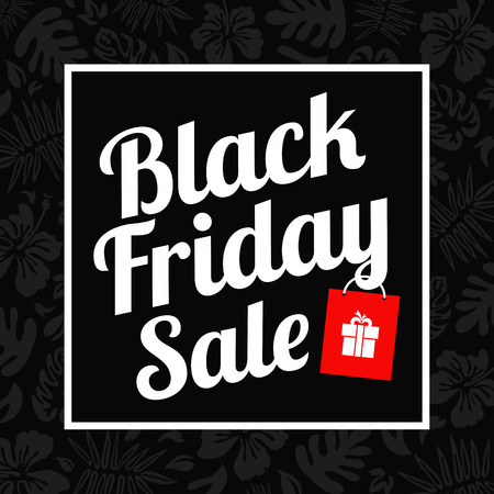 black friday card Vector illustration.