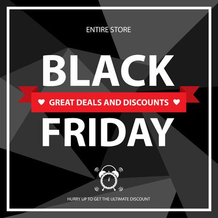 grand sale sticker: black friday card vector illustration. Illustration