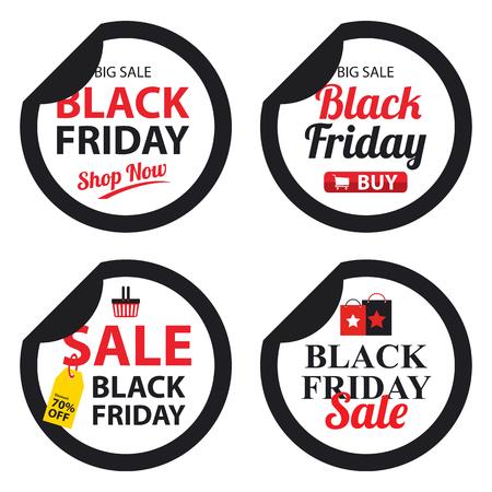 grand sale sticker: black friday sticker Illustration