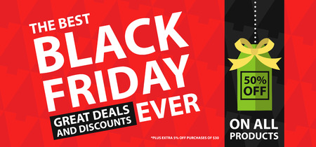 grand sale sticker: Black friday great deals and discounts Illustration