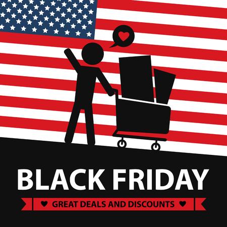 grand sale sticker: black friday card