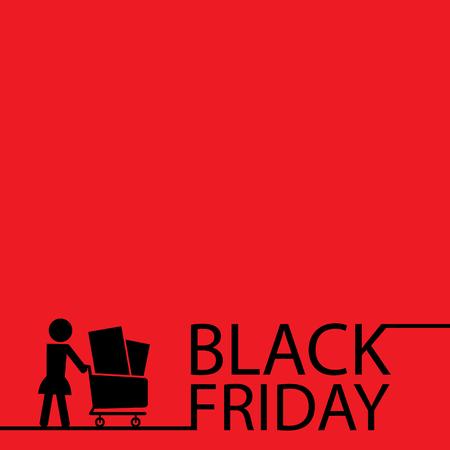 grand sale sticker: Black friday template Illustration