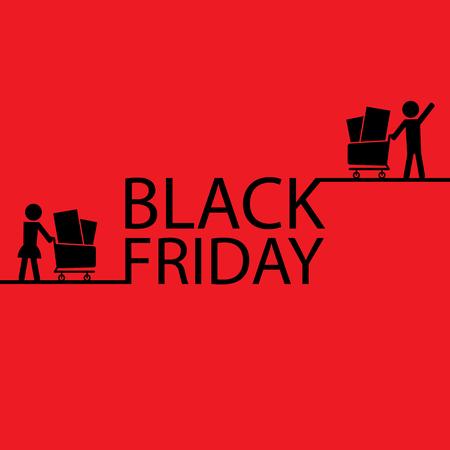 grand sale sticker: Black friday card Illustration