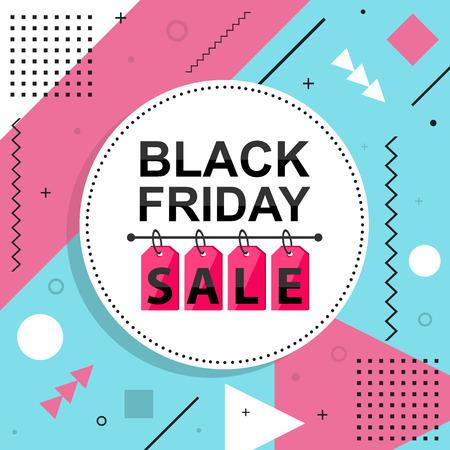 grand sale sticker: black friday ad, flyer vector illustration.