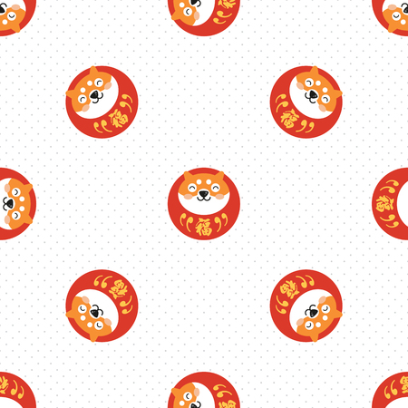 chinese new year wallpaper. celebrate year of dog. Vector illustration.