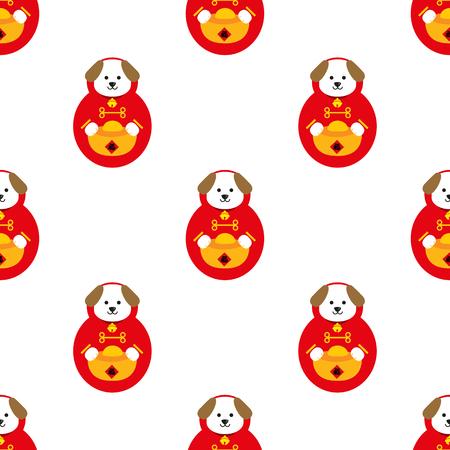 Chinese new year seamless. celebrate year of dog.